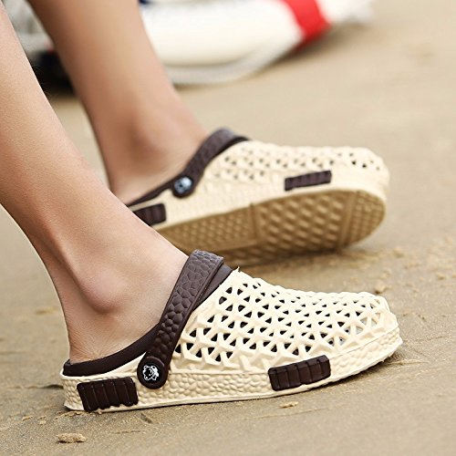 Buco scarpa Uomini estate Il nuovo Uomini sandali tendenza Antiscivolo personalità estate traspirante sandali Spiaggia scarpa ,Marrone ,US=7.5,UK=7,EU=40 2/3,CN=41