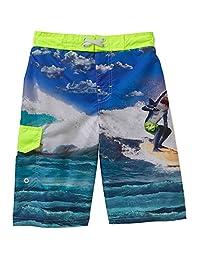 Ocean Pacific Boys Surfing Shark Swim Short