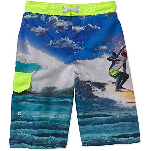 Op Boys Shark Surfing Swim Trunk Shorts (X-Small 4-5)