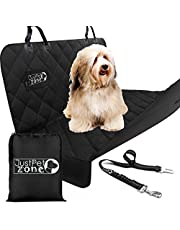 Dog Car Seat Cover Waterproof - Heavy Duty Dog Hammock with Seat Belt and a Bag, Pet Car Seat Protector With Side Flaps, Scratch Proof Nonslip Padded Pet Seat Cover for Cars Trucks and SUVs.