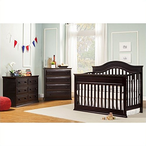 DaVinci Brook 4-in-1 Convertible Crib 3 Piece Set in Dark Java
