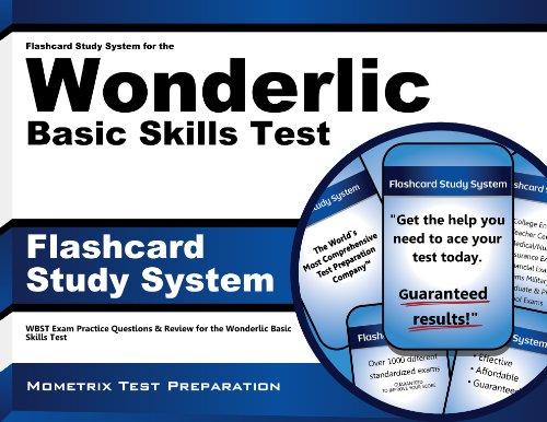 Flashcard Study System for the Wonderlic Basic Skills Test: Wonderlic Exam Practice Questions & Review for the Wonderlic Basic Skills Test
