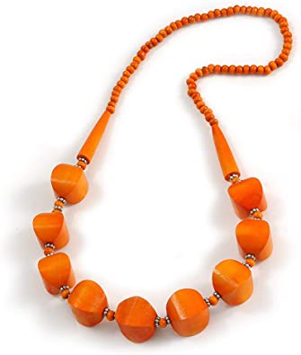 Thanksgivings Necklace Fall color Necklace Wood Necklace Orange chunky Necklace Avenrurine Necklace Orange and Brown Necklace Earrings