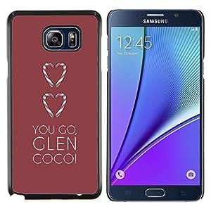EJOOY---Cubierta de la caja de protección para la piel dura ** Samsung Galaxy Note 5 5th N9200 ** --amas de ir cañada corazón minimalista marrón