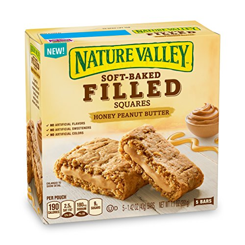 Nature Valley Soft Baked Filled Squares Honey Peanut Butter, 7.1 oz