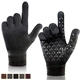 arteesol Thermal Winter Touch Screen Gloves, Windproof-Elastic Cuff -Warm Lining Gloves for Outdoor Running Cycling Climbing Sports for Men and Women