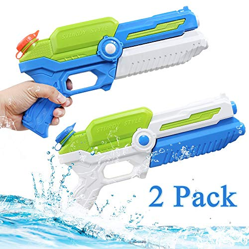 NextX Water Gun Super Soaker, High Capacity Squirt Guns for Kids Adult, Water Pistol for Swimming Pool Beach Sand Water Fighting Toy (2 Pack)