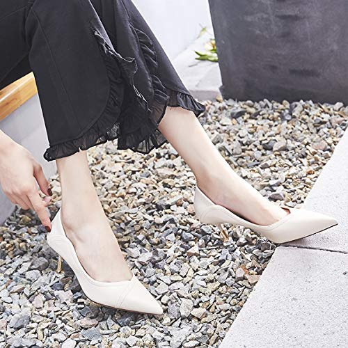 fashionable sexy wild heels Thirty shoes five 6cm LBTSQ Spikes cat shoes heels thin high xvgC6gwqF