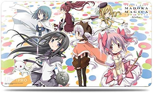 Amazon Com Ultra Pro Official Puella Magi Madoka Magica The Movie Rebellion Nagisa And The Holy Quintet Playmat Toys Games