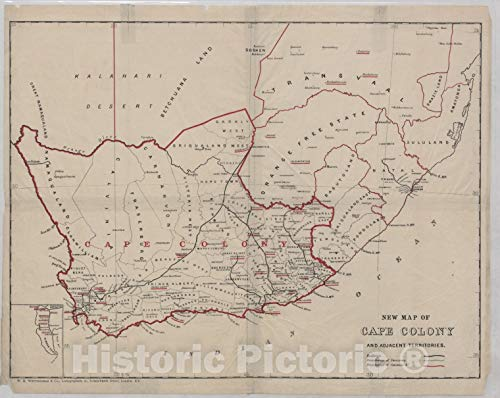 Amazon.com: Historic 1800 Map | New map of Cape Colony and ...