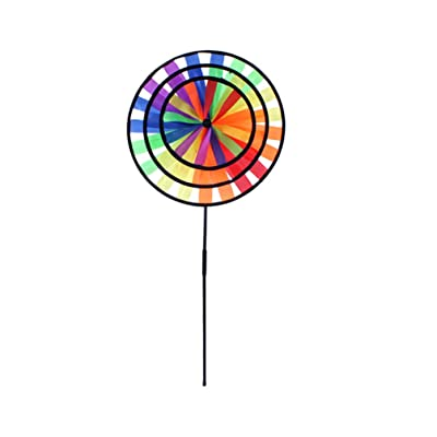 BESPORTBLE Pinwheel Wind Spinners Rainbow Windmill Kids Pinwheel Educational Toy for Children Kids Birthday Gift Outdoor Decor: Home & Kitchen
