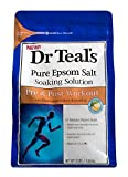 Dr. Teals Pure Epsom Salt Soaking Solution, Pre & Post Workout, 3...