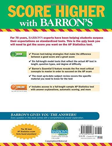 Barron's AP Statistics, 8th Edition: Martin Sternstein Ph D