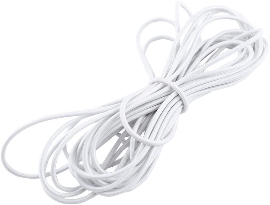 Akozon Strong /Élastique Bungee Corde Cordon Attacher Bricolage Artisanat Fabrication de Bijoux 1pc 5mm 10m-blanc