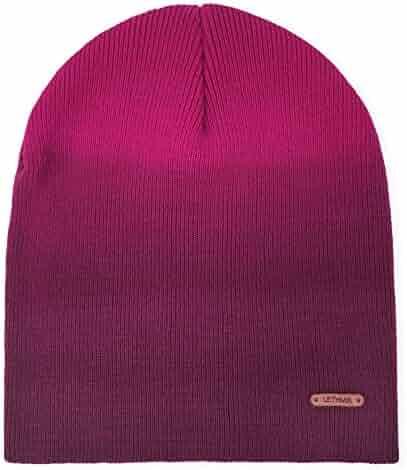 b7b896a6ed1 lethmik Fleece Lined Beanie Hat Mens Winter Solid Color Warm Knit Ski Skull  Cap