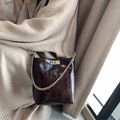 Modello Bag Donna Versatile Pietra Messenger Spalla Benna Borsa Fashion Caffè wSSxAqrY
