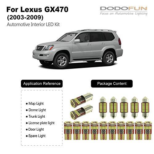 White Interior LED Light 17-pc Kit for Lexus GX470 (2003-2009)