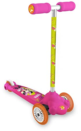 Minnie Mouse - Twist & Roll diseño Bow-tique, Patinete 2 Ruedas Delanteras (Mondo 18397)