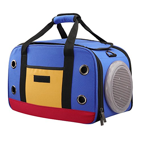 OLIISS Innovative Pet Carriers, Hit Color Soft Canvas Material Foldable Pet Travel Carrier Airline Travel Approved Carrier for Cat and Small Dog