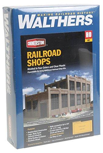 Walthers HO Scale Rail Shops Cornerstone Series174 Railroad Shop Kit 17-1/8 x 8-3/4 x 8-5/8
