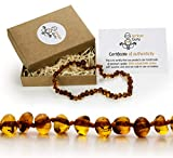 Natural Baltic Amber Teething Necklace For Babies - Anti Inflammatory, Drooling & Teething