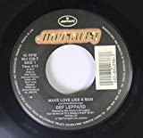 DEF LEPPARD 45 RPM Make Love Like a Man / Miss You In a Heartbeat