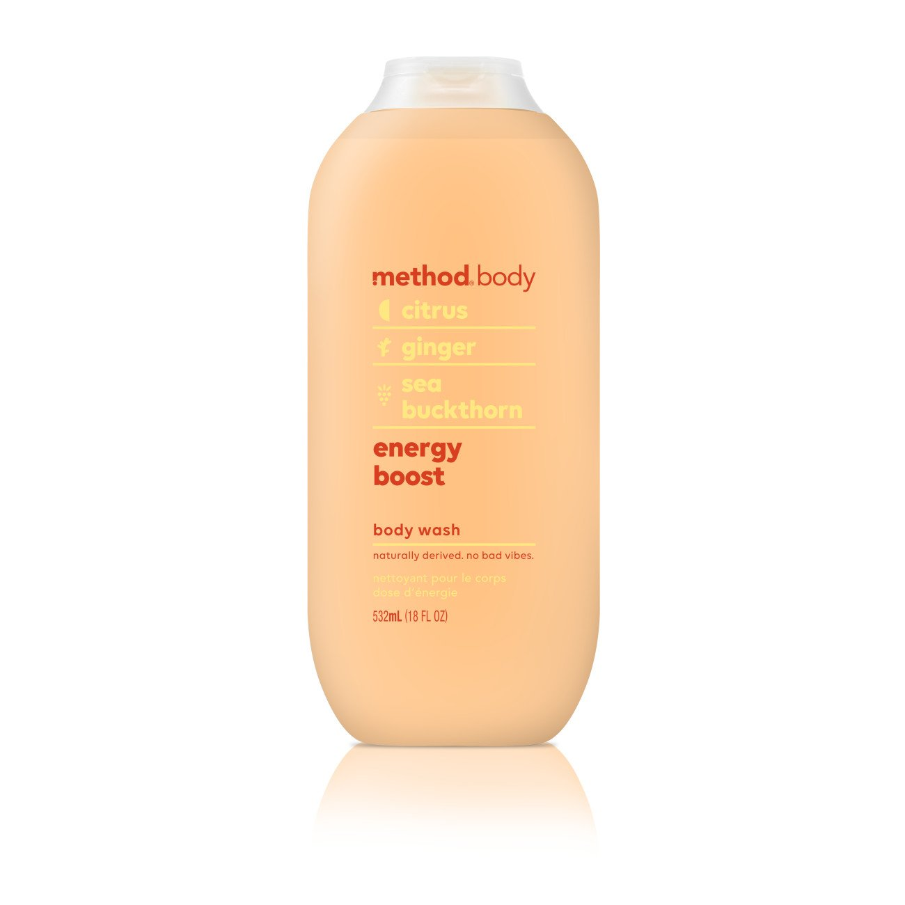 Method Body Wash, Energy Boost, 18 Fluid Ounce,Pack of 1