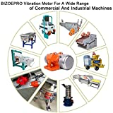 BIZOEPRO Concrete Vibrator Vibration Motor 60W Mini Vibrating Motor Single Phase Aluminum Alloy AC 110V 3600rpm Vibrating Vibrators for Shaker Table