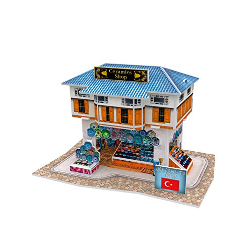 Lelifang 3D stereoscopic new listing world style hut building assembly model children 's toys W3111 Turkey - ceramic shop (Foam Puzzle Pooh The Winnie)