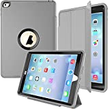 IPAD MINI 4 Smart CASE- Ultra Slim Lightweight ,Auto Sleep/Wake for Apple New iPad Mini 4 Released on 2015 (Gray/Black)