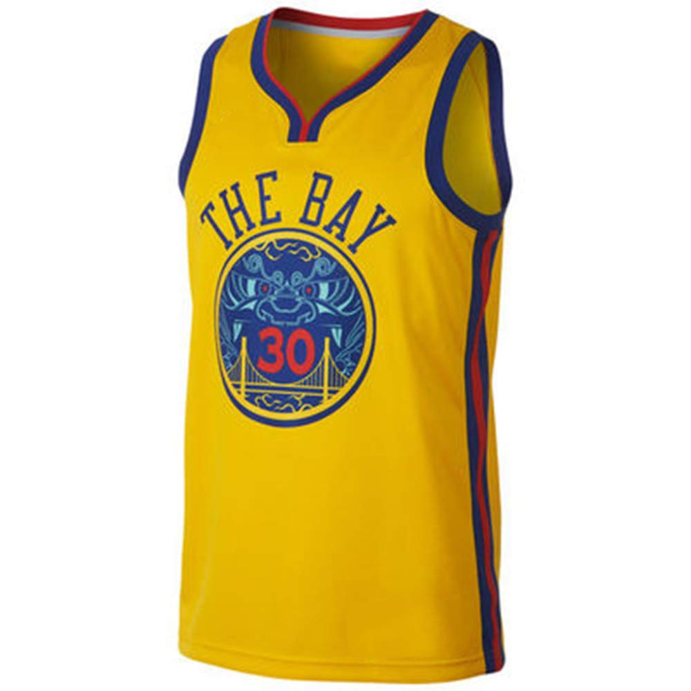 jaune(b) XXL Top Qualité Guerriers 30 Curry Basketball Jersey Uniformes Sports Chemises De Basket-Ball Cousu Hommes City Edition