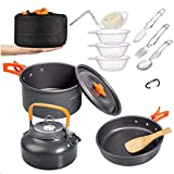 Overmont 15pc 1.95 Liter (Pot+ Kettle) Camping