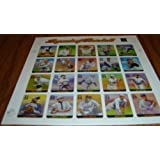 Legends of Baseball Collectible Full Sheet of Twenty 33 Cent Stamps Scott 3408