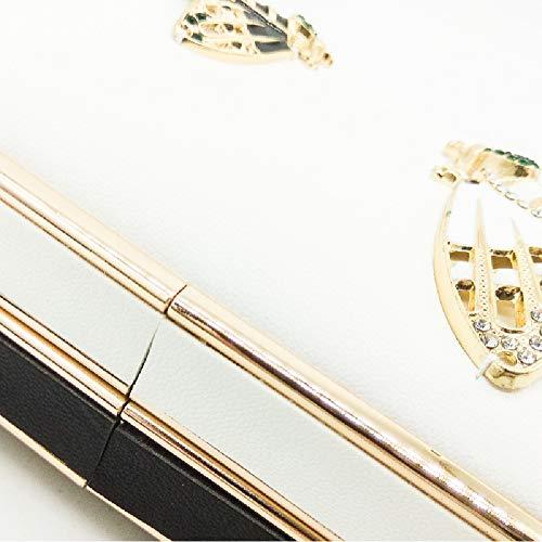 Blanc 4 Femme Pochette Blanc Blanc pour YHB517 BESTWALED Sxqw8U7ZII