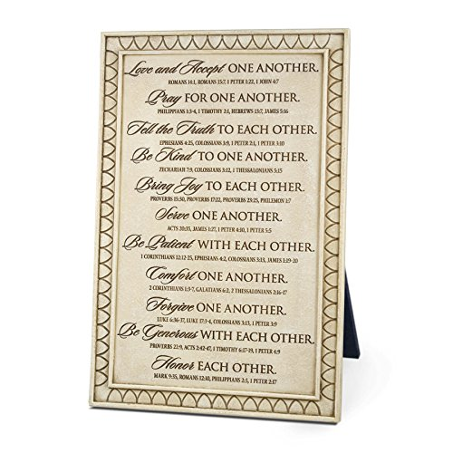 Lighthouse Christian Products One Another Word Study Wall/Desktop Plaque, 7 1/2 x 11 1/4
