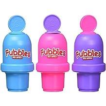 Little Kids Fubbles No Spill Bubble Tumbler Mini 3 Pack Party Favor Set, Includes 2oz of Bubble Solution and a Wand per Bottle (Assorted Colors)