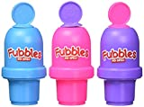 Little Kids Fubbles No Spill Bubble Tumbler Mini 3 Pack Party Favor Set, Includes 2oz of bubble solution and a wand per bottle (assorted colors)