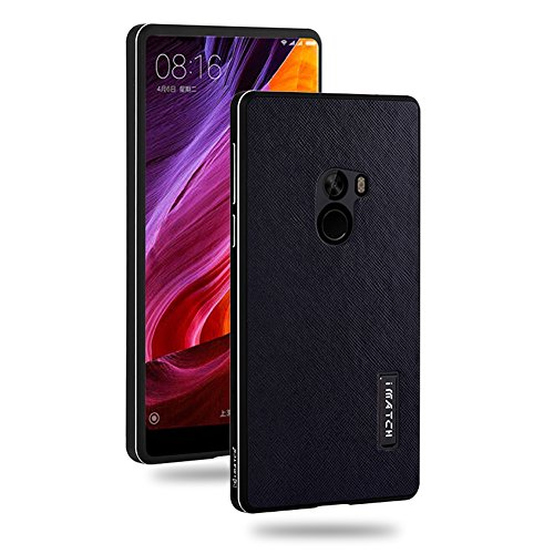 For Mi MIX,DAYJOY Luxury Premium Aluminum Metal Shockproof Bumper Frame Case + Real Genuine Cow Leather Back Cover With invisible Kickstand and Lanyard for Xiaomi Mi -
