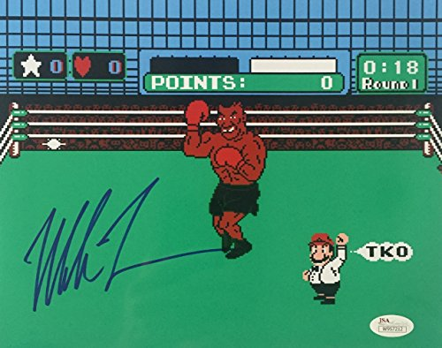 Mike Tyson Signed Boxing 8x10 Punch Out Photo JSA