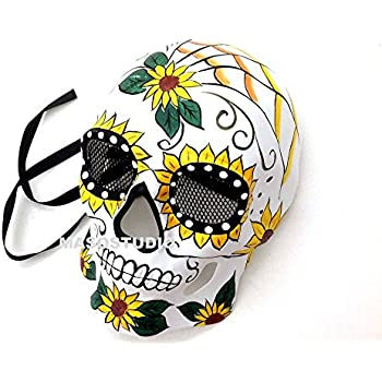 7c40d4b7e54f MasqStudio Halloween Cosplay Masquerade Skeleton Mask Day of The Dead Wear  or Deco (Style A)