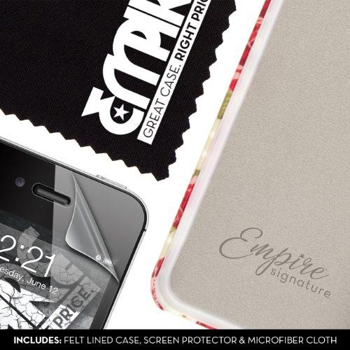 EMPIRE Signature Série One Piece Slim-Fit Case Étui Coque for Apple iPhone 4 / 4S - Vintage Red Rose
