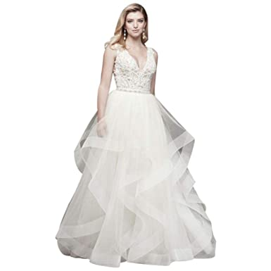 a46572b02 Tiered Tulle Ball Gown Wedding Skirt Style WG3946 at Amazon Women's ...
