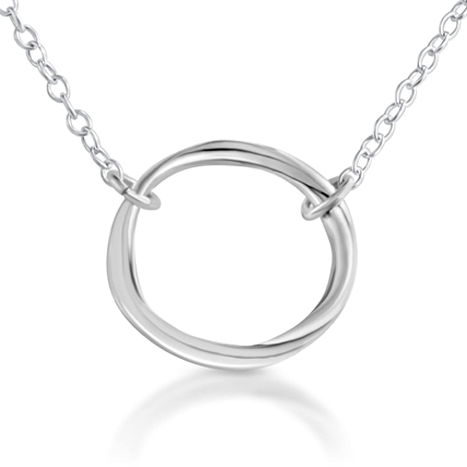 Amazon 925 sterling silver karma ring circle of life pendant amazon 925 sterling silver karma ring circle of life pendant necklace 14 inches jewelry aloadofball Images