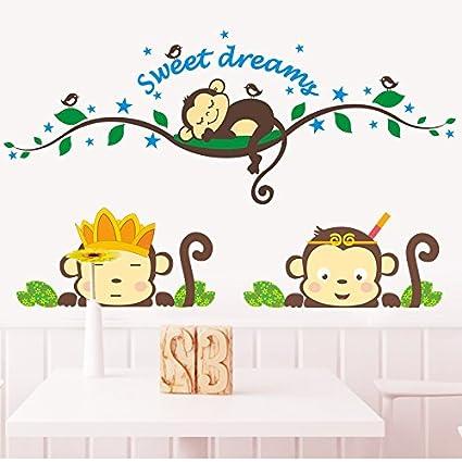 GOUZI Cute dibujos animados mono animado caliente son niños de ...
