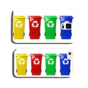 Four colorful recycle bins cell phone cover case iPhone5