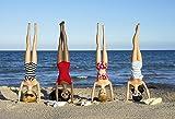 Girls Headstands on the Beach