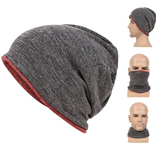Reversible Winter Beanie Hat Cap - 3