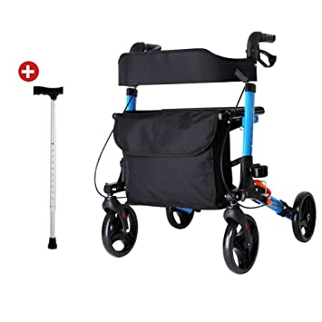 LQFLD Andador con Ruedas Plegable - Andador Médico con ...