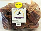 100% Awesome Dog Chews All Natural Pig Ears 50 Count Value Bag - FDA / USDA Inspected Through a Registered FDA Plant