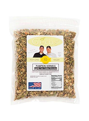 Lightly Sea Salted Pumpkin Seed Kernels, 2 LBS by Gerbs – Top 14 Food Allergy Free & NON GMO - Vegan & Kosher -...